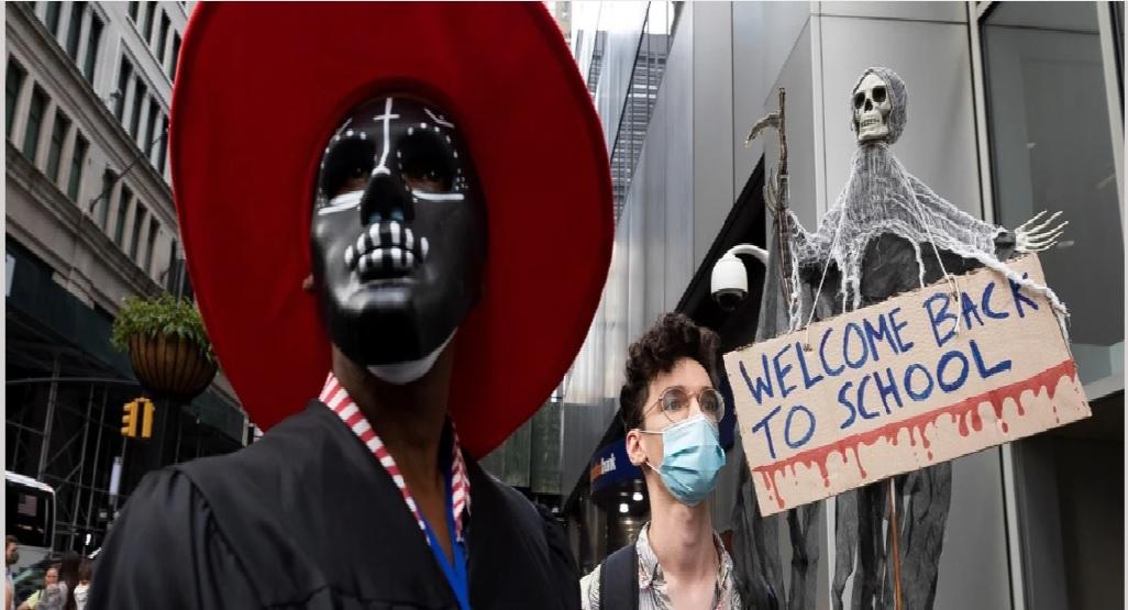 Movilizaciones en Nueva York contra el retorno a las aulas